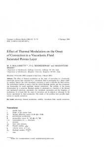 Effect of Thermal Modulation on the Onset of Convection in a Viscoelastic Fluid Saturated Porous Layer