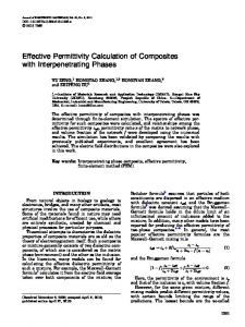 Effective Permittivity Calculation of Composites with Interpenetrating Phases