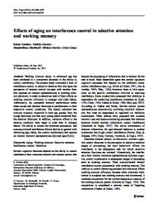 Effects of aging on interference control in selective attention and working memory