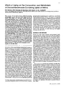 Effects of aging on the composition and metabolism of docosahexaenoate-containing lipids of retina