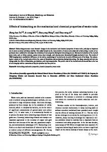 Effects of bioleaching on the mechanical and chemical properties of waste rocks