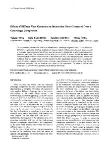 Effects of diffuser vane geometry on interaction noise generated from a centrifugal compressor