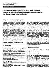 Effects of EGF or bFGF on the development of porcine parthenogenetic embryos in vitro