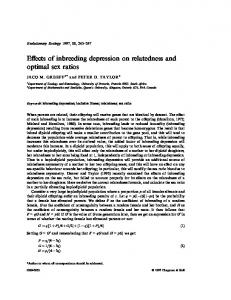 Effects of inbreeding depression on relatedness and optimal sex ratios