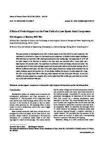 Effects of probe support on the flow field of a low-speed axial compressor