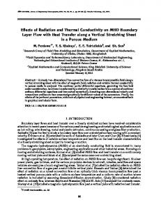 Effects of radiation and thermal conductivity on MHD boundary layer flow with heat transfer along a vertical stretching sheet in a porous medium