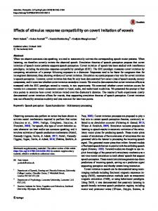 Effects of stimulus response compatibility on covert imitation of vowels