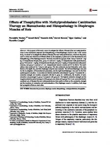 Effects of Theophylline with Methylprednisolone Combination Therapy on Biomechanics and Histopathology in Diaphragm Muscles of Rats