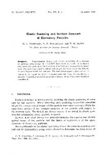 Elastic scattering and intrinsic structure of elementary particles