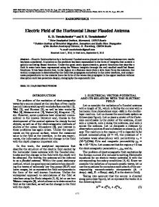 Electric field of the horizontal linear flooded antenna