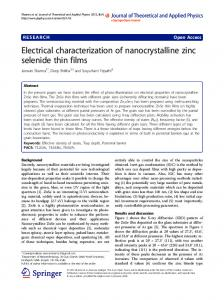 Electrical characterization of nanocrystalline zinc selenide thin films
