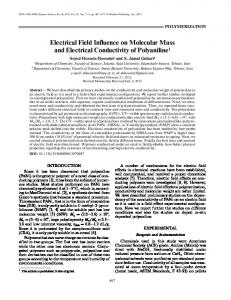 Electrical field influence on molecular mass and electrical conductivity of polyaniline