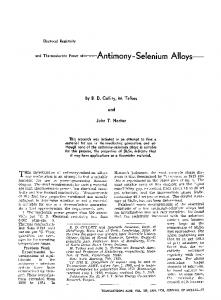 Electrical resistivity and thermoelectric power of—Antimony-selenium alloys—