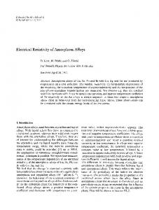 Electrical resistivity of amorphous alloys