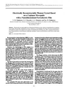 Electrically reconstructable phonon crystal based on a coplanar waveguide with a nanodimensional ferroelectric film
