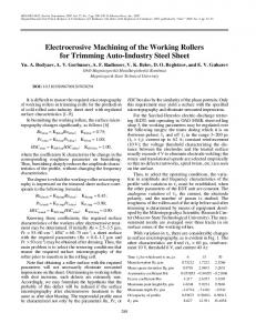 Electroerosive machining of the working rollers for trimming auto-industry steel sheet