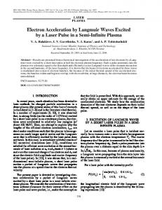 Electron acceleration by Langmuir waves excited by a laser pulse in a semi-infinite plasma