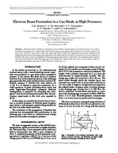 Electron beam formation in a gas diode at high pressures