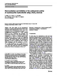 Electrooxidation and inhibition of the antibacterial activity of oxytetracycline hydrochloride using a RuO2 electrode