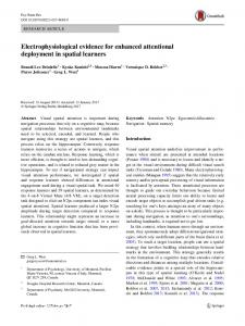Electrophysiological evidence for enhanced attentional deployment in spatial learners