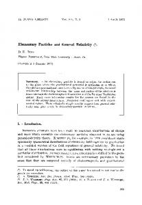 Elementary particles and general relativity