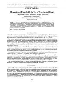 Elimination of phenol with the use of tyrosinase of fungi
