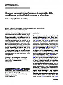 Enhanced photocatalytic performances of cocrystalline TiO2 nanoblossoms by the effect of nanoscale p–n junctions