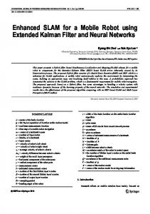 Enhanced SLAM for a mobile robot using extended Kalman Filter and neural networks