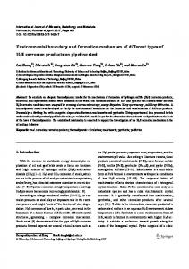 Environmental boundary and formation mechanism of different types of H2S corrosion products on pipeline steel