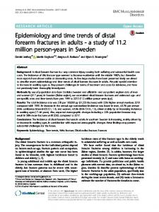 Epidemiology and time trends of distal forearm fractures in adults - a study of 11.2 million person-years in Sweden