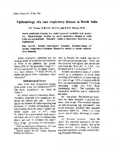 Epidemiology of a cute respiratory disease in North India