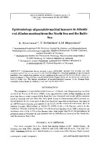 Epidemiology of pseudobranchial tumours in Atlantic cod(Gadus morhua) from the North Sea and the Baltic Sea
