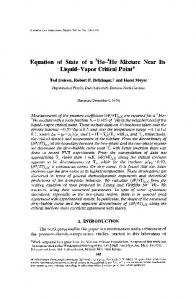 Equation of state of a3He-4He mixture near its liquid-vapor critical point