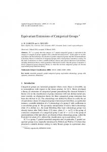 Equivariant Extensions of Categorical Groups