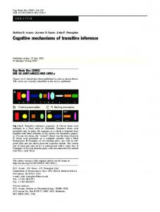 Erratum to: Cognitive mechanisms of transitive inference