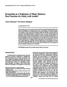 Erucamide as a Modulator of Water Balance: New Function of a Fatty Acid Amide
