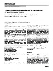 Esthesioneuroblastoma methods of intracranial extension: CT and MR imaging findings