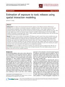 Estimation of exposure to toxic releases using spatial interaction modeling