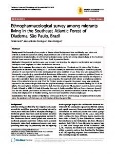 Ethnopharmacological survey among migrants living in the Southeast Atlantic Forest of Diadema, São Paulo, Brazil