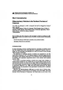 Ethnoveterinary Medicine in the Northern Provinces of Cameroon