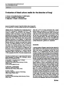 Evaluation of blood culture media for the detection of fungi