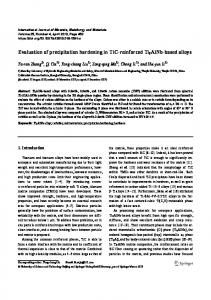 Evaluation of precipitation hardening in TiC-reinforced Ti2AlNb-based alloys
