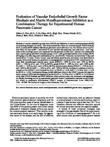 Evaluation of vascular endothelial growth factor blockade and matrix metalloproteinase inhibition as a combination therapy for experimental human pancreatic cancer