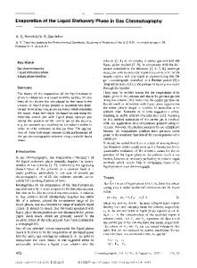 Evaporation of the liquid stationary phase in gas chromatography