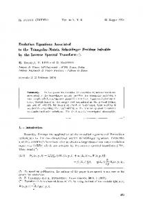 Evolution equations associated to the triangular-matrix Schrödinger problem solvable by the inverse spectral transform