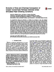 Evolution of Size and Chemical Composition of Copper Concentrate Particles Oxidized Under Simulated Flash Smelting Conditions