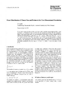 Exact distribution of cluster size and perimeter for two-dimensional percolation