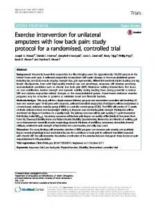 Exercise intervention for unilateral amputees with low back pain: study protocol for a randomised, controlled trial