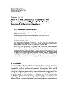 Existence and Uniqueness of Solutions for Coupled Systems of Higher-Order Nonlinear Fractional Differential Equations