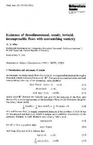 Existence of threedimensional, steady, inviscid, incompressible flows with nonvanishing vorticity
